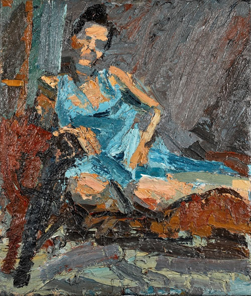 Peter Clossick The Blue Dress